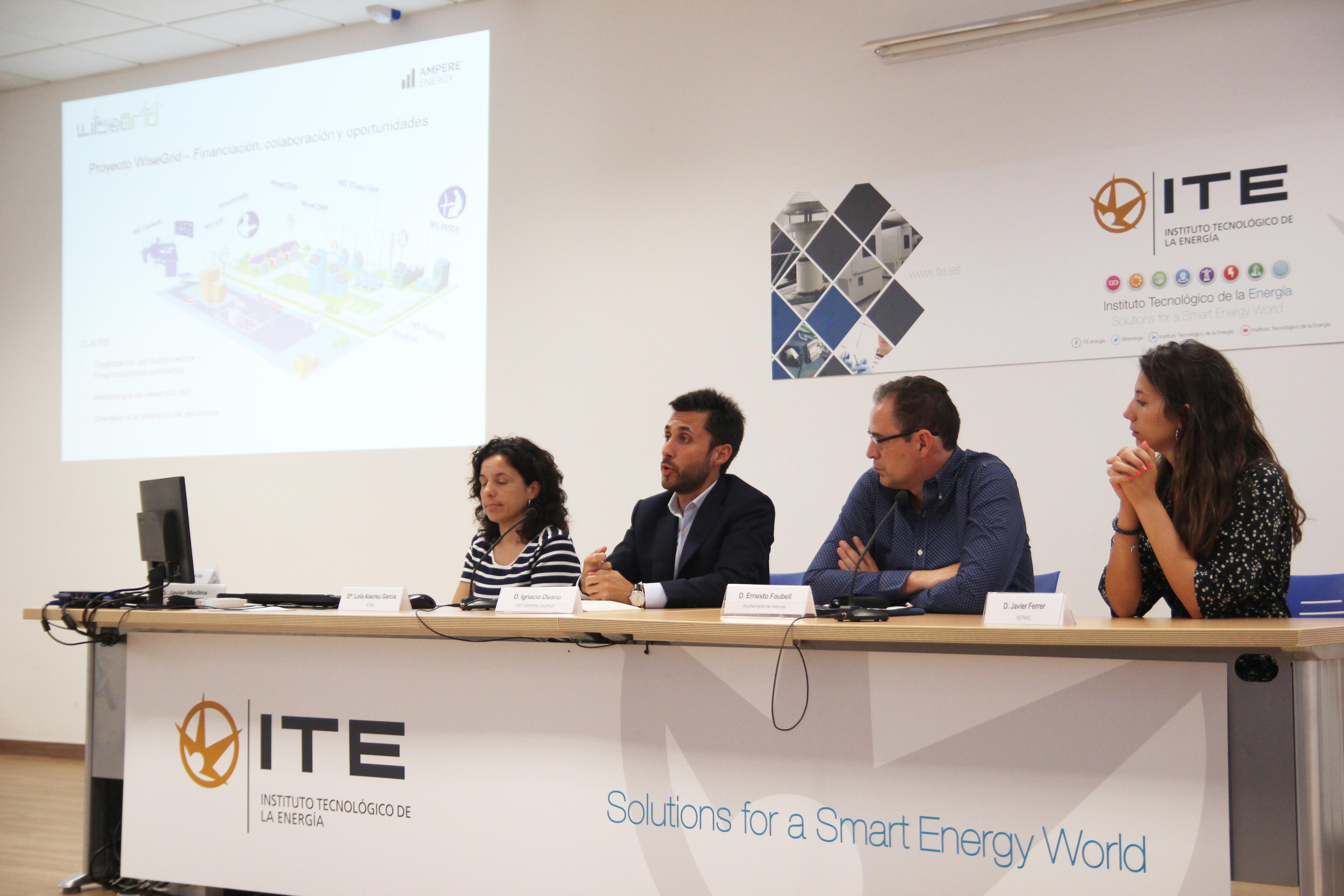 Ampere Energy presenta en el ITE su aportación al proyecto europeo WiseGRID