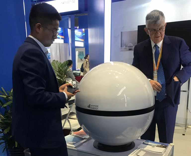 Ampere Sphere se exhibe en China y en Italia