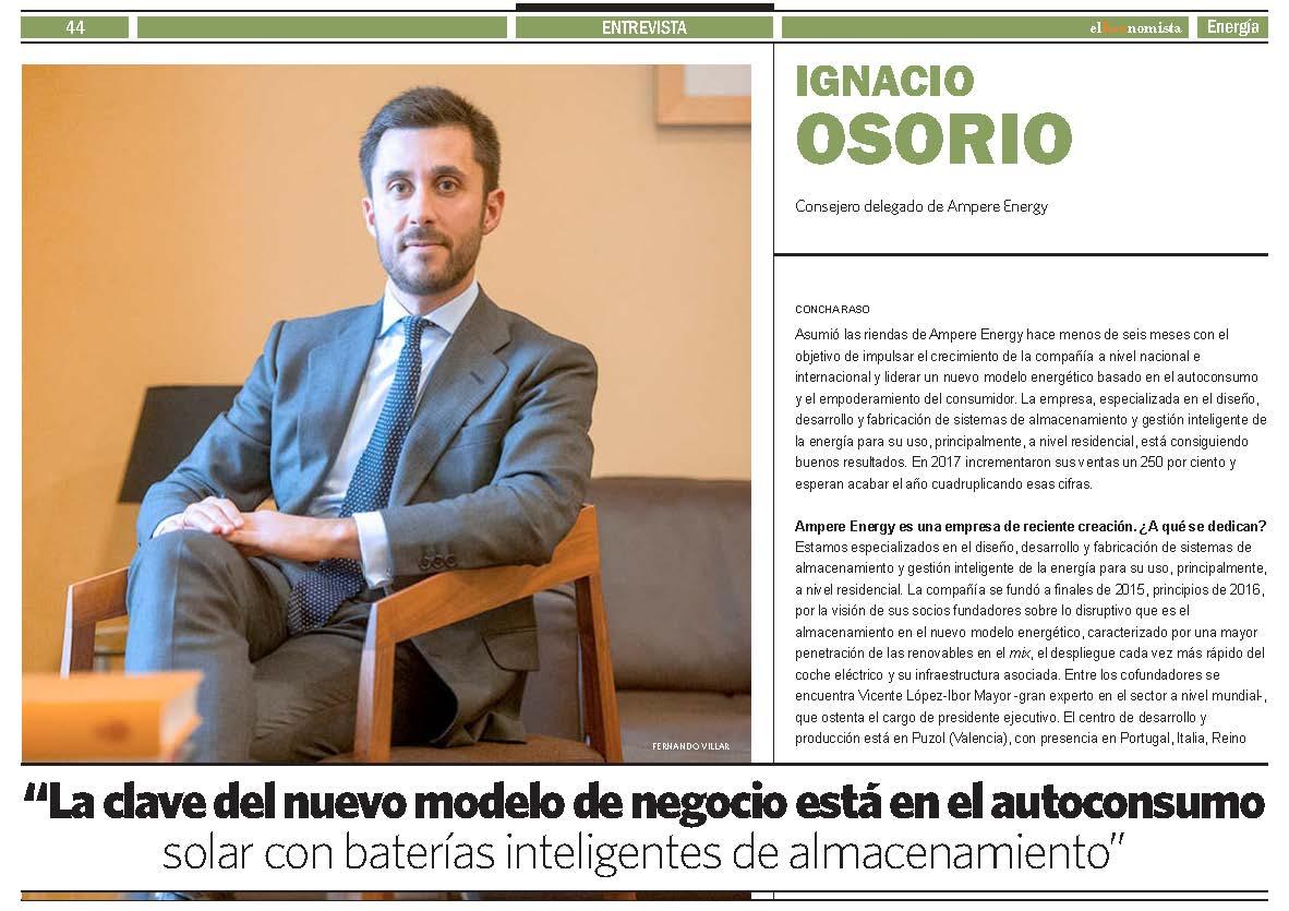 Entrevista a Ignacio Osorio en El Economista