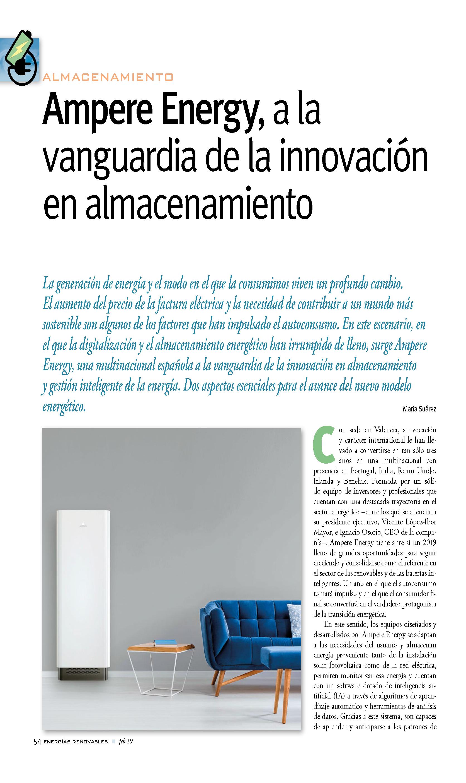 Ampere Energy en la revista Energías Renovables