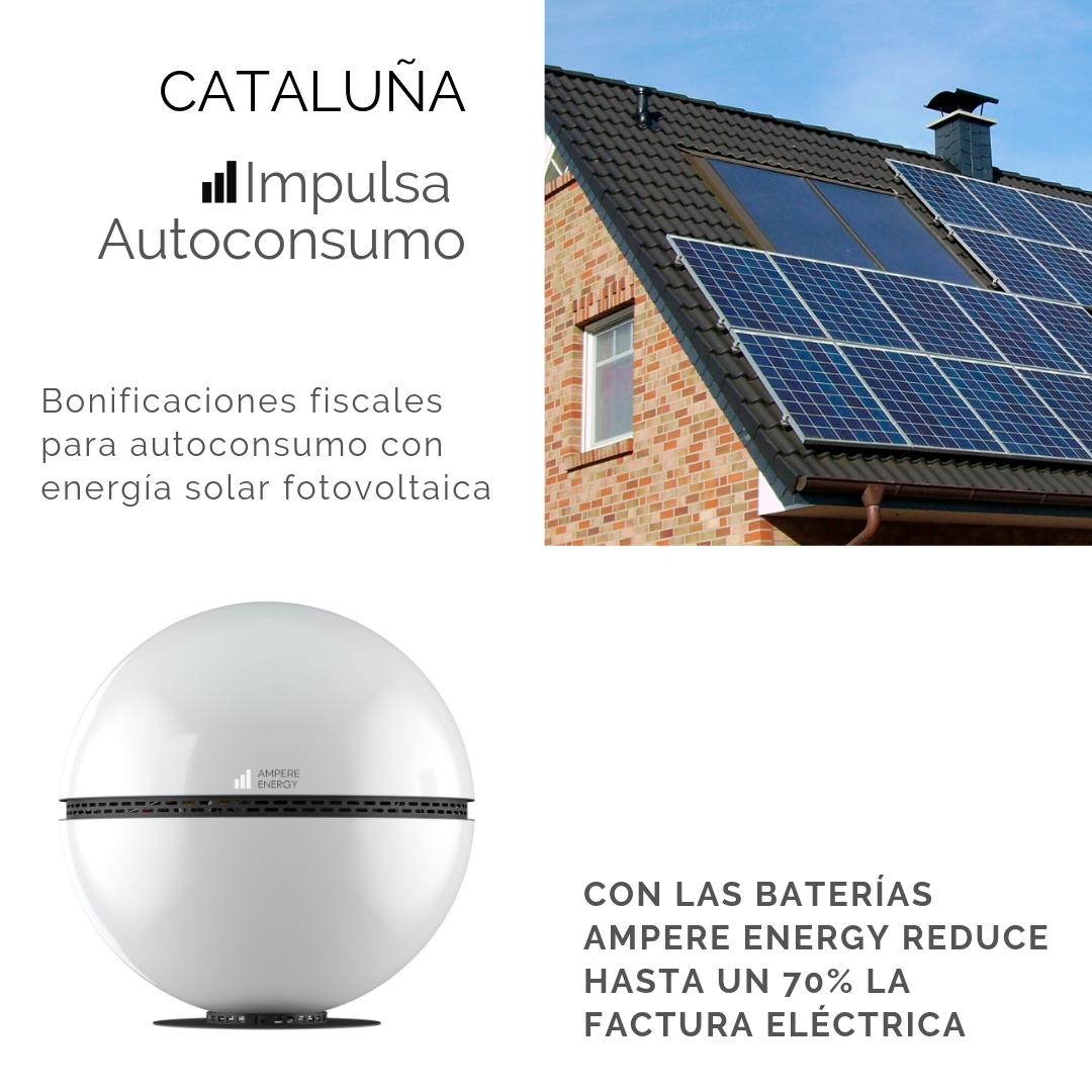 Bonificaciones fiscales en Cataluña para autoconsumo con energía solar fotovoltaica